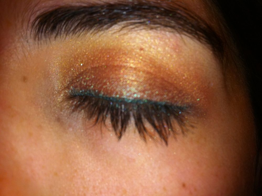 copper smoky eye
