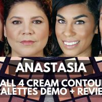 Anastacia Cream Contour on 4 Skin Tones