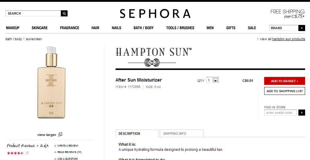 Hampton Sun After Sun Moisturizer  C$0.01 large.JPG