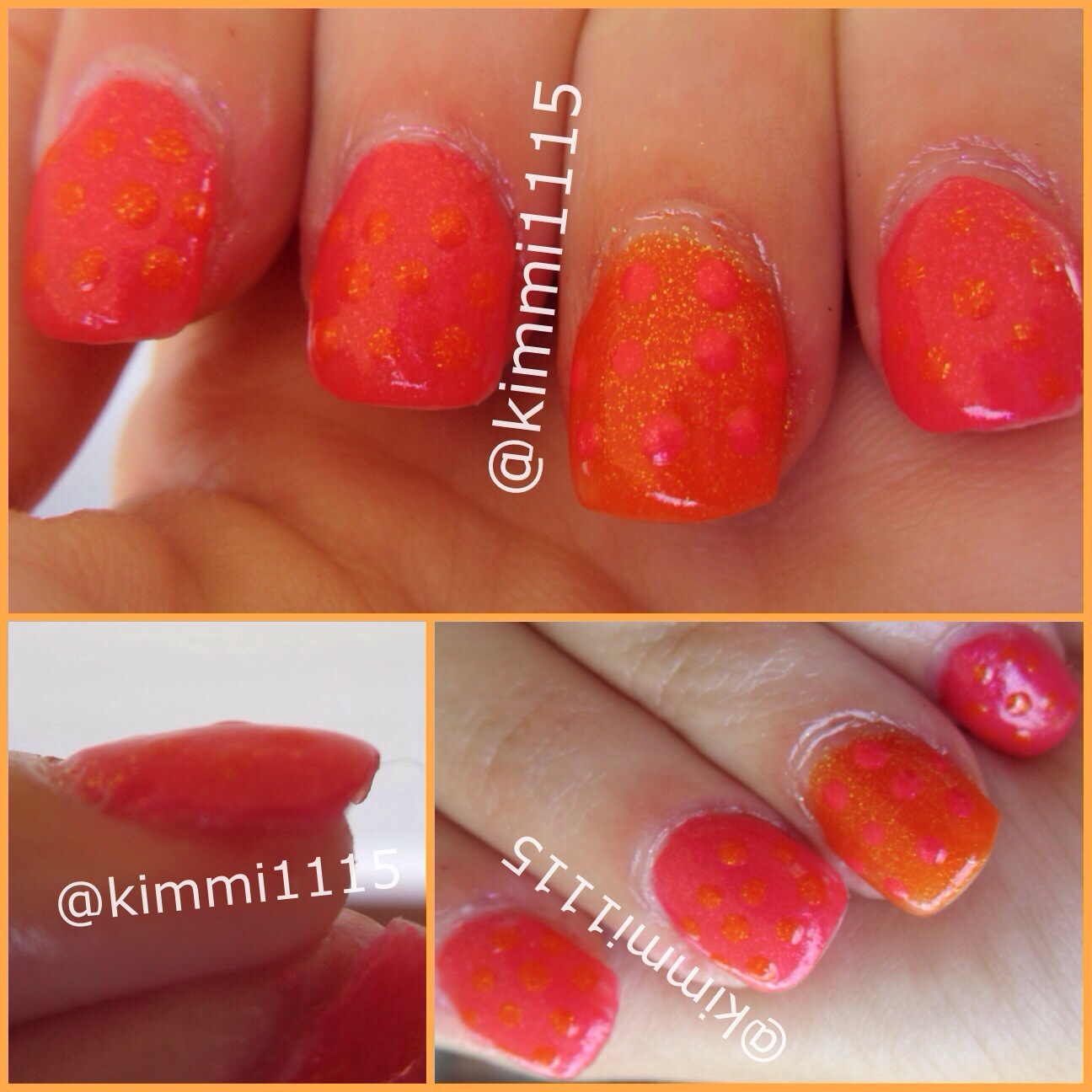 pink orange nails framed.JPG