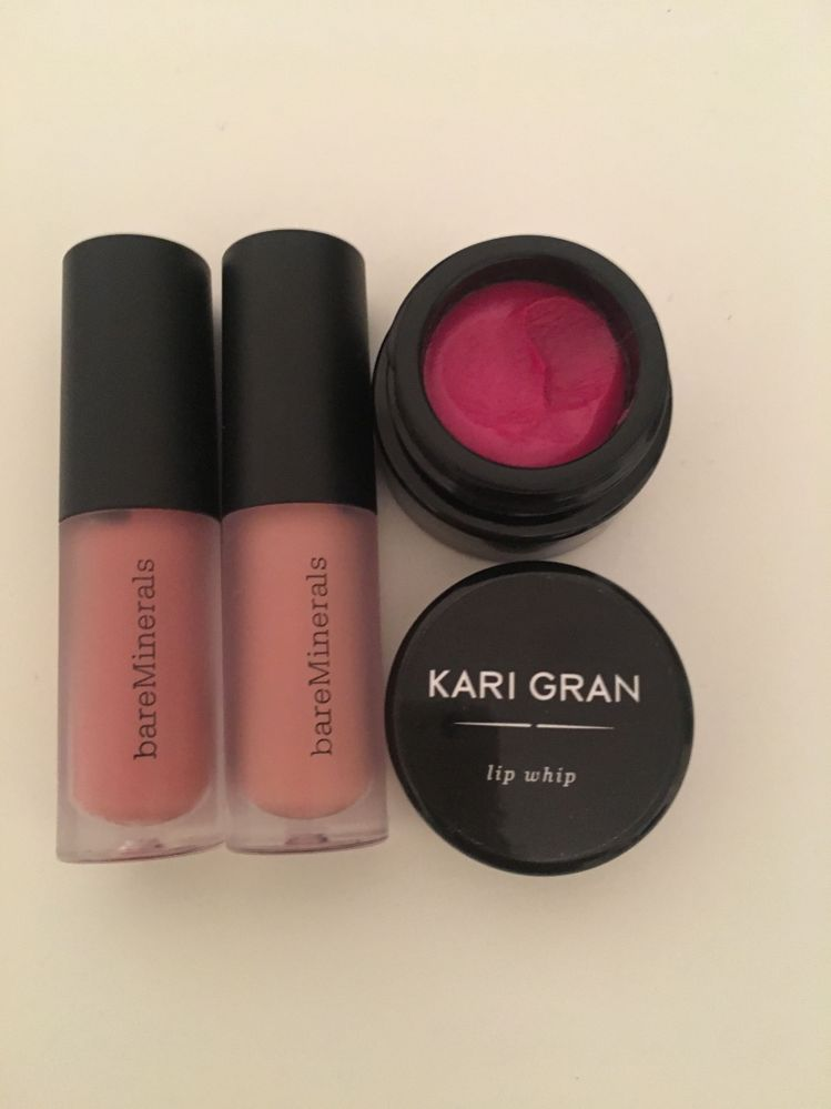 Expired mini lippies and a Kari Gran lip whip