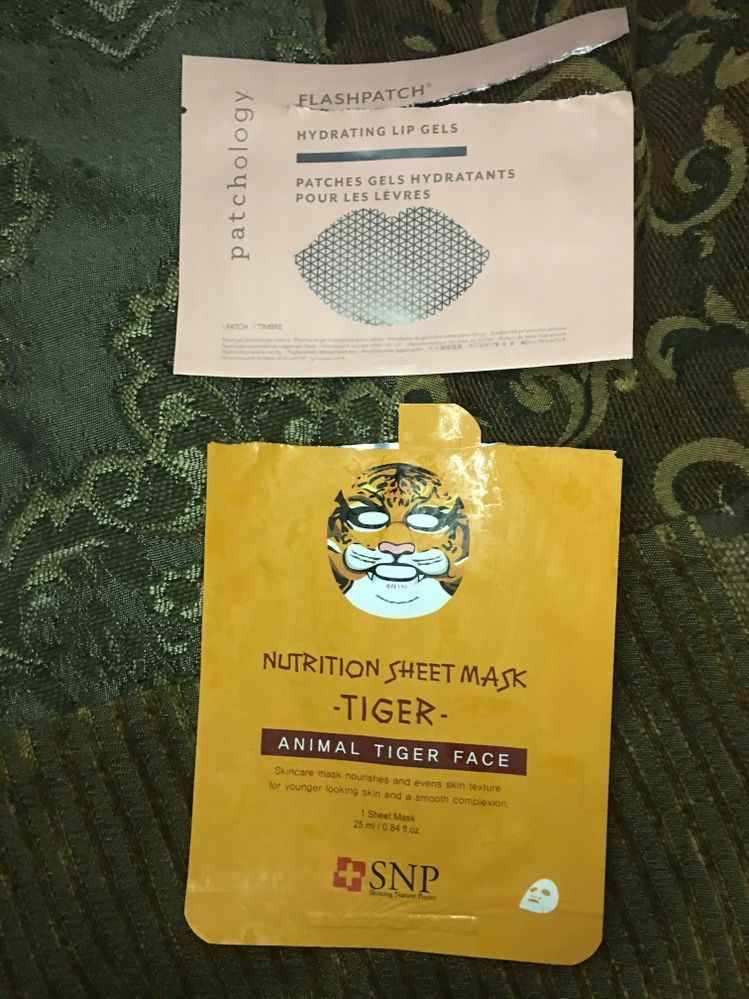 Disappointments. The tiger mask was adorable but no really change for my skin type. Same with the Patchology lip mask. I really don't find lip masks helpful. I only use them if I get them for free.