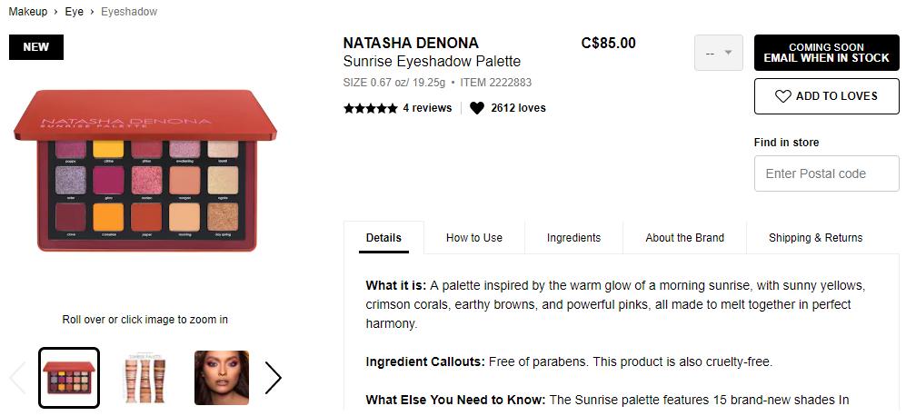 Sunrise Palette - Natasha Denona