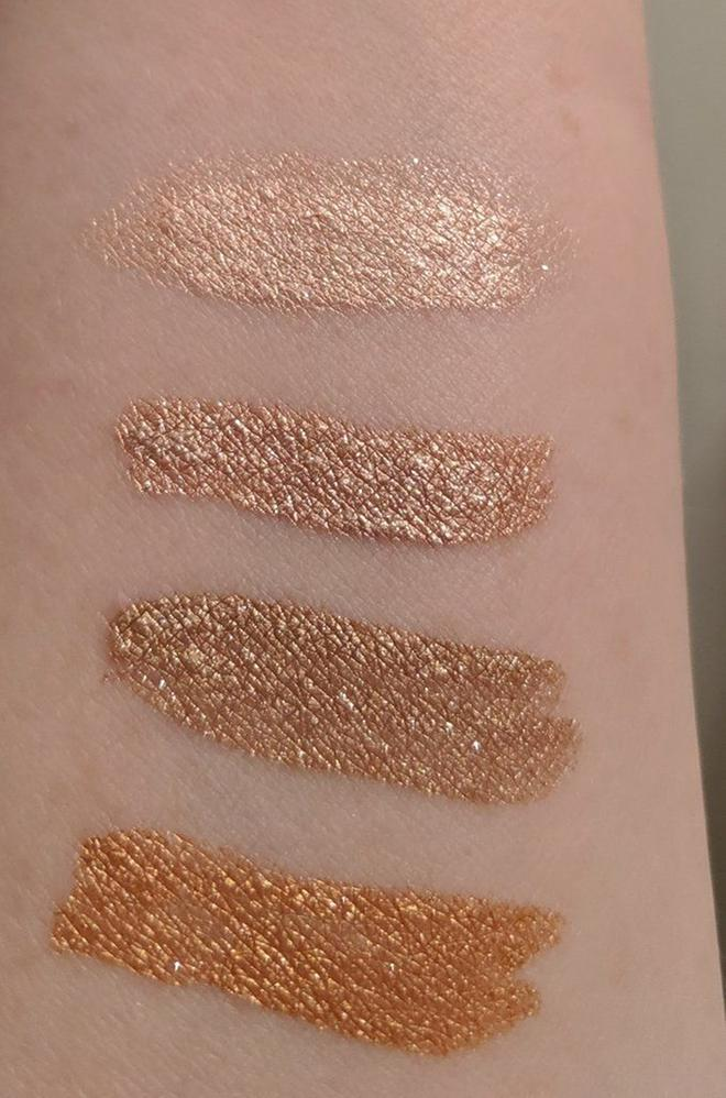 Top-Bottom: Perfect Foil, Molten Petal, Gold Fusion, Copperhead