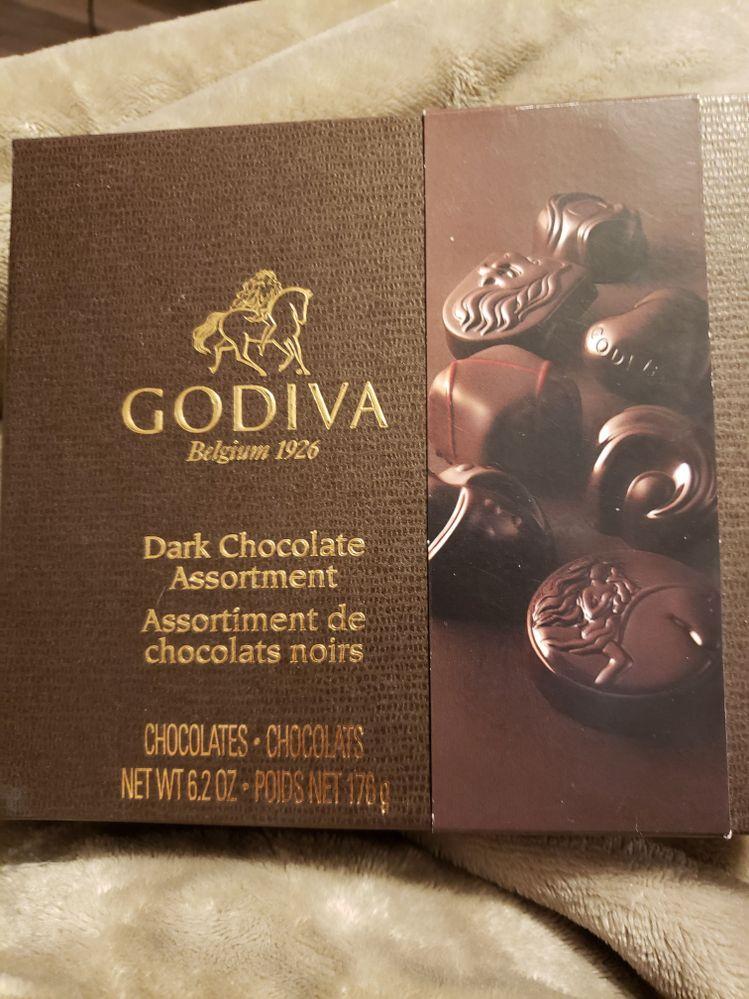Lol yeah, I'm getting my chocolate fix on. Mmmm dark chocolate.
