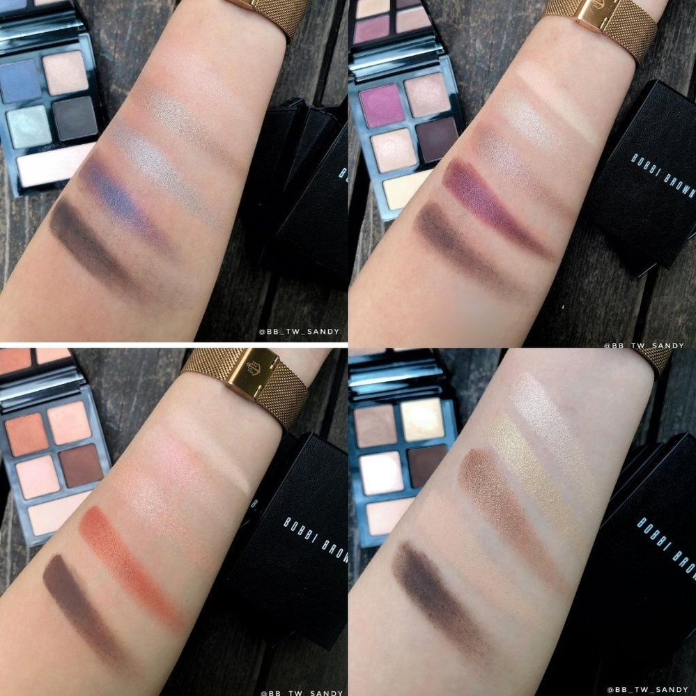 Top row: Blue Storm, Midnight Orchid; Bottom row: Into the Sunset, Burnished Bronze