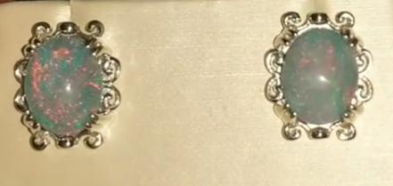 Mother-in-law's opal earrings
