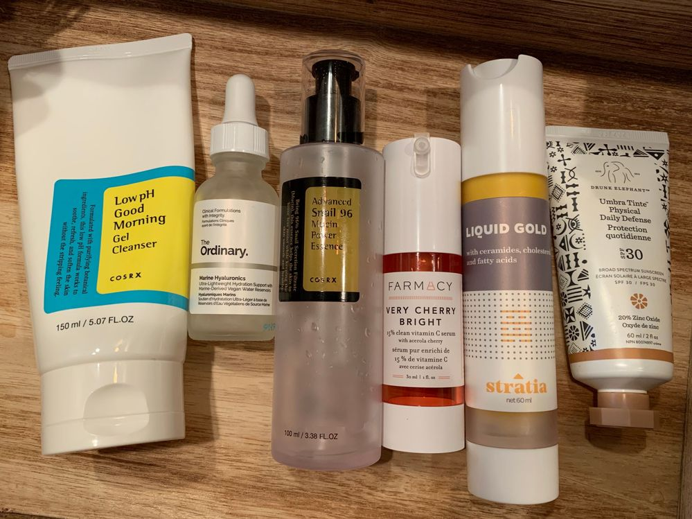 Morning Routine - typical except for Stratia Liquid Gold which was extra as I used Retinol day before