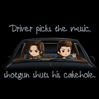 Sam & Dean Winchester Shotgun Shuts His Cakehole T-Shirt _ Official Supernatural Tee (1).jpg