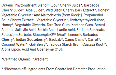 Ingredients list from dermstore (dot) com