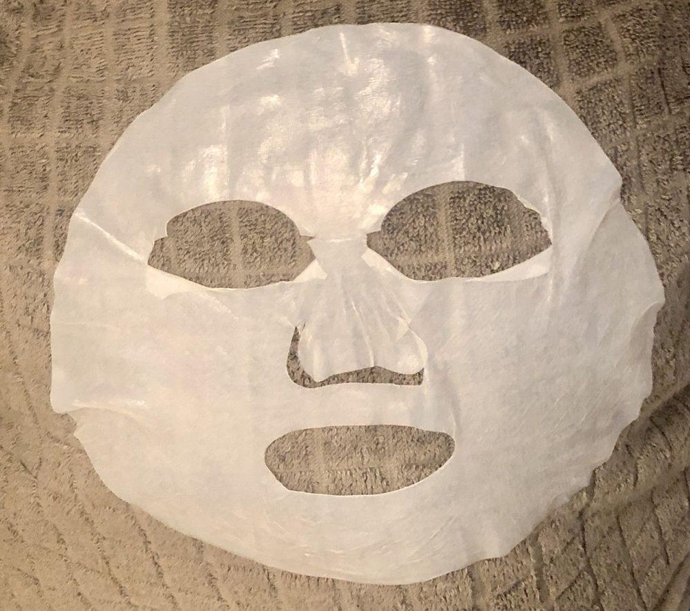 This is what I think of when I think of a bio-cellulose mask.
