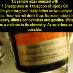 Dry Mask First, overnight two of these sample sizes, or 3 ounces of this mask, mix it with a tablespoon of Jajoba Oil.