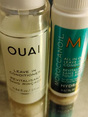 Either of these would be good leave in coniditioners you need conditioner in the shower and then when you get out you need it - pick what is right for you and other may have other ideas you like