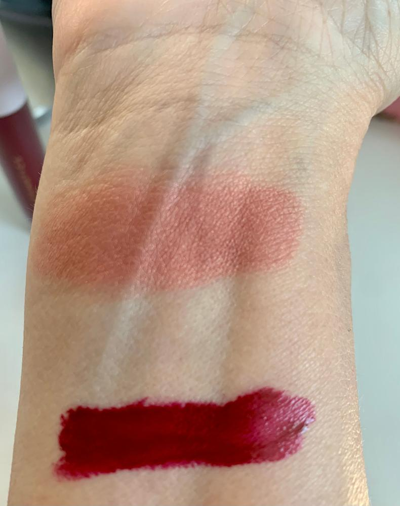 Em rose blush, ruby gloss