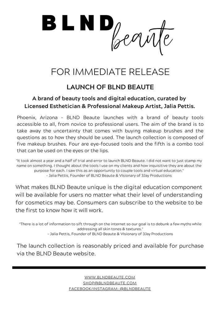Press Release - BLND Beaute