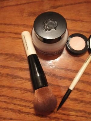I purchased the Bobbi Brown Eye Corrector in Porcelain Bisque and the Ultra Precise Liner Brush.  I received the Face Brush and full size Hydrating Face Cream for free!