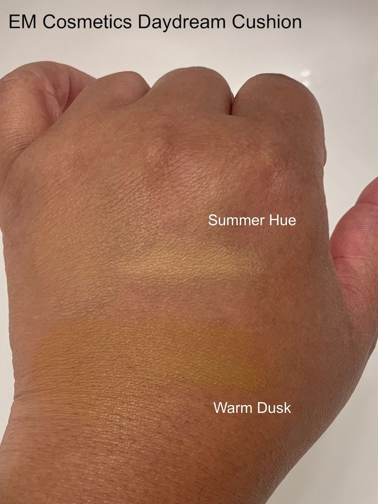 Summer Hue's great for the center of my face. Warm Dusk is better around the perimeter. I might try mixing the shades, as Warm Dusk seems to have a gold undertone that's not right for me.