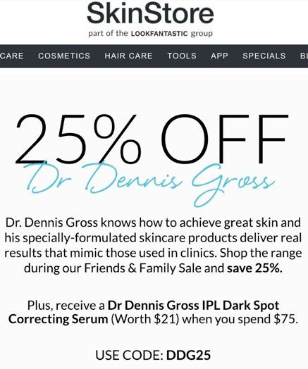 Must use code DDG25 to get discount. Free gift will auto-add to cart when buy-in (after discount) is met.