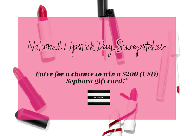 National Lipstick Day Sweepstakes