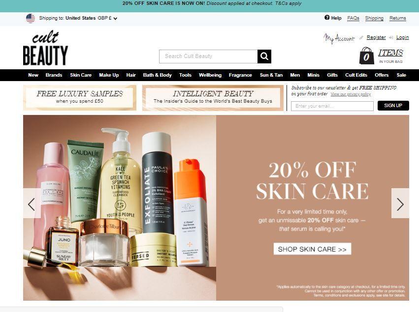 Cult Beauty 20% off Skincrae.JPG