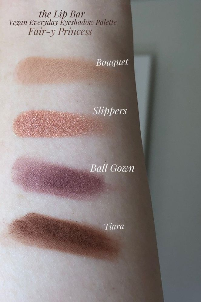 Bouquet swiped 2x. All other shadows were one pass - these are beautifully pigmented!