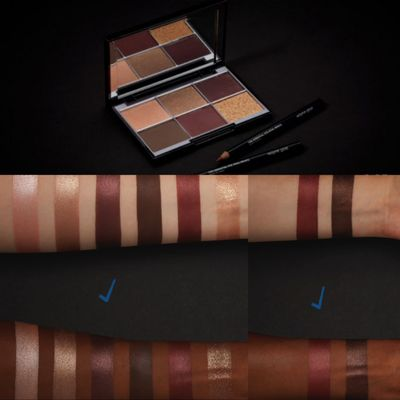 From Wayne's video: Tourmaline Luxury Eyeshadow Palette, and Copper Flame and Tiger's Eye kohl pencils