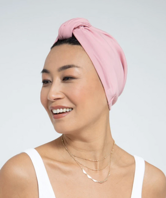 Loza Tam Carnation Pink Satin-Lined Turban