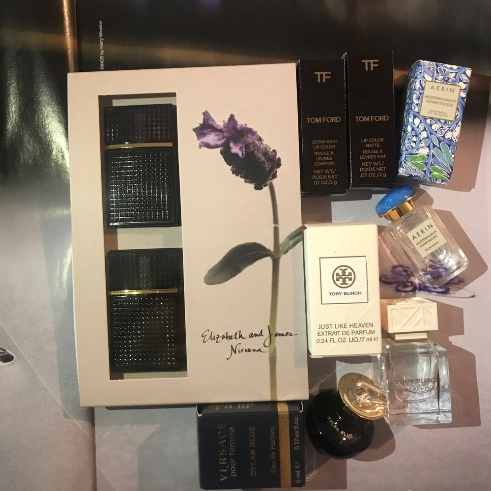 E+J Nirvana Duo, Tom Ford Boys & Girls in Christiano + Georgie, Aerin , Tory Burch, and Versace promos