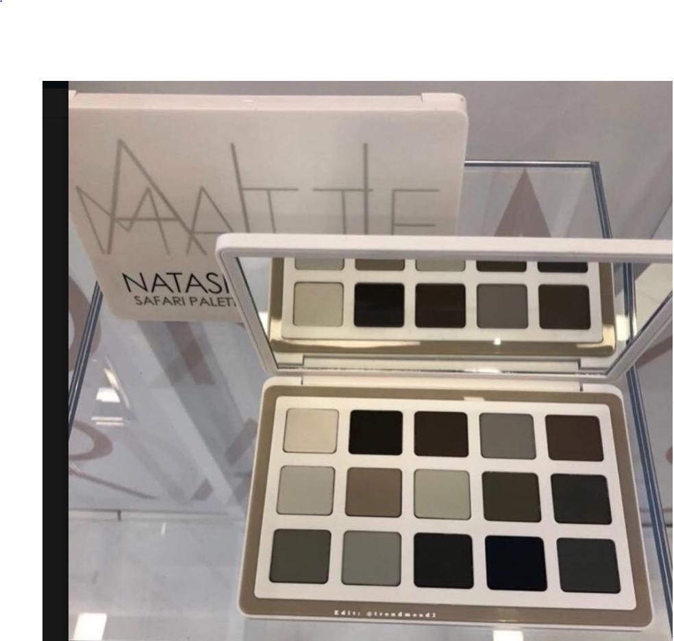 Image result for natasha denona safari palette black and white