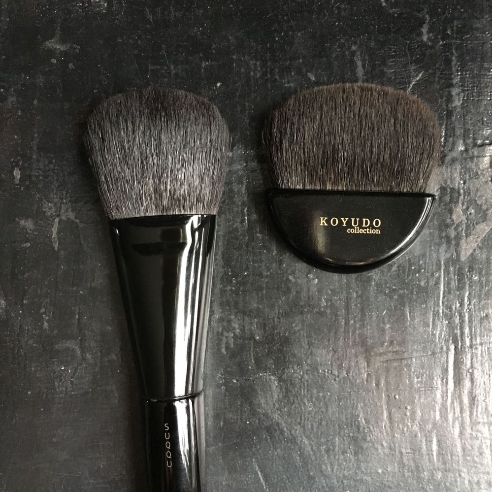 Face Designing Brush compared to a fan