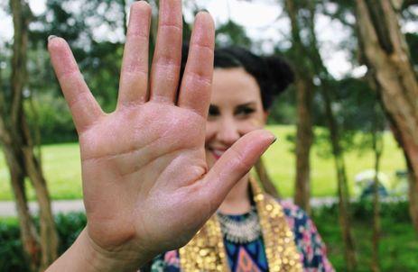 LexBt Showing Sparkly hand.JPG