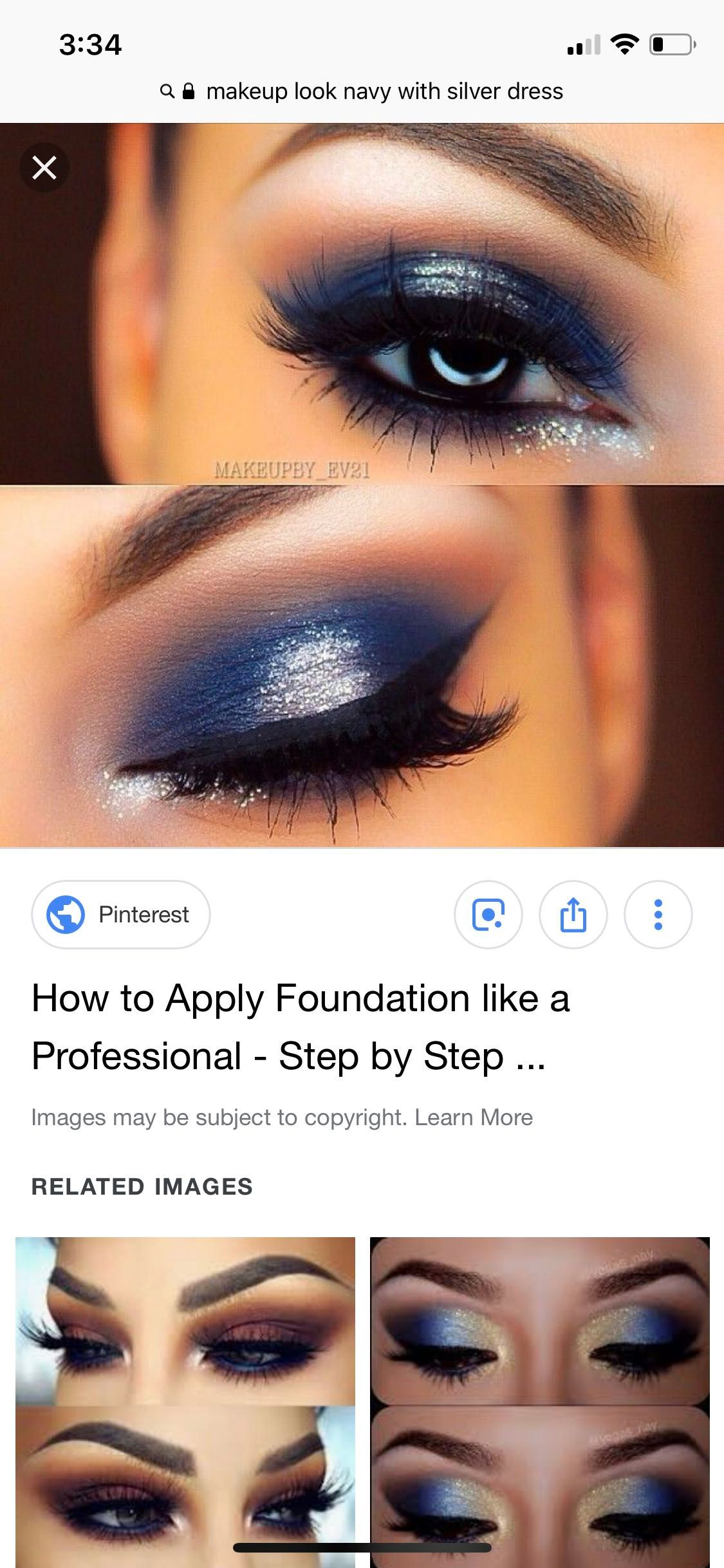 Eye Makeup For Navy Blue Prom Dress