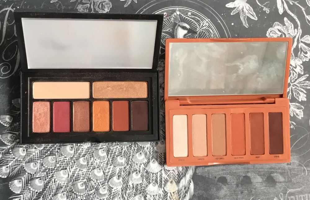 Both palettes have that warm, burnt smoky look