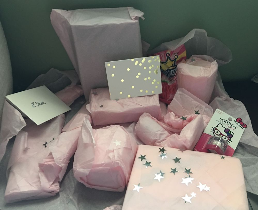 So many gifts, such pretty packaging!