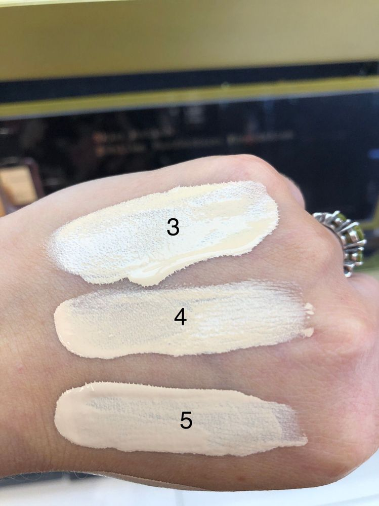 Fresh swatches in store lighting