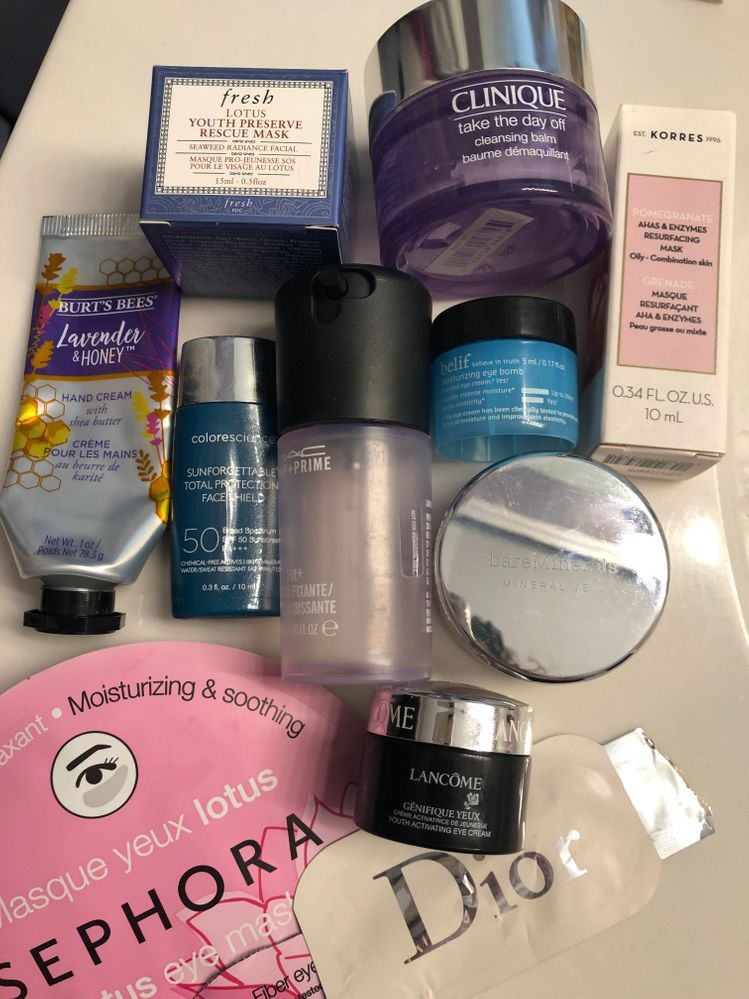 Loves- Have most of these repurchased or deluxe samples to use up first. Won't purchase the lancome right now because have quite a few other samples to work through. Have the Mac fix+ in another scent to use first.
