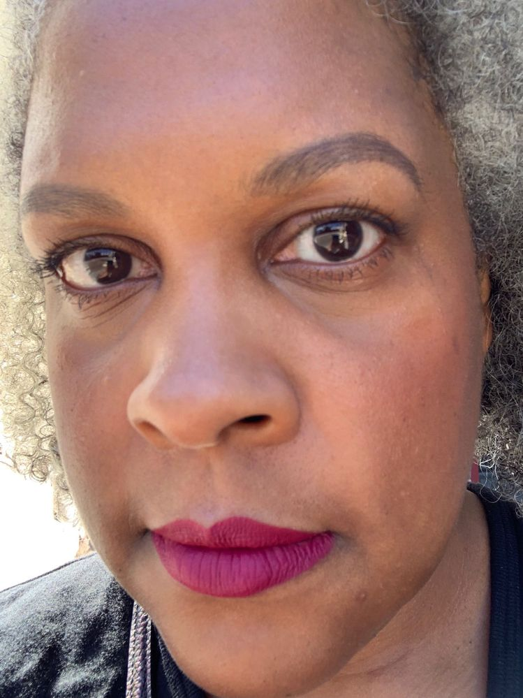 A rarity: mascara on my bottom lashes.