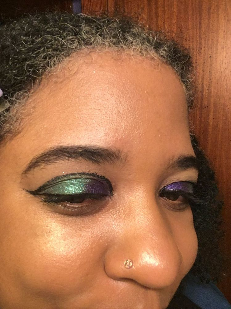 Trying a graphic liner look