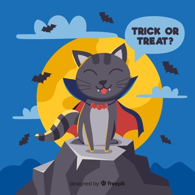cute-hand-drawn-vampire-cat-with-cape_23-2148265686