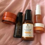 I am using Kiehl's Vitamin C Line Reducing Concentrate a few mornings a week. It's a repurchase. But I have samples of other Vitamin C. My plan was to use 1-2 Vitamin C products in the AM under make up and use an AHA product in the evening. Maybe acids just a few evenings a week? I also have a Neutrogena Rapid Repair Tone Retinol that is just hanging out in my medicine cabinet.
