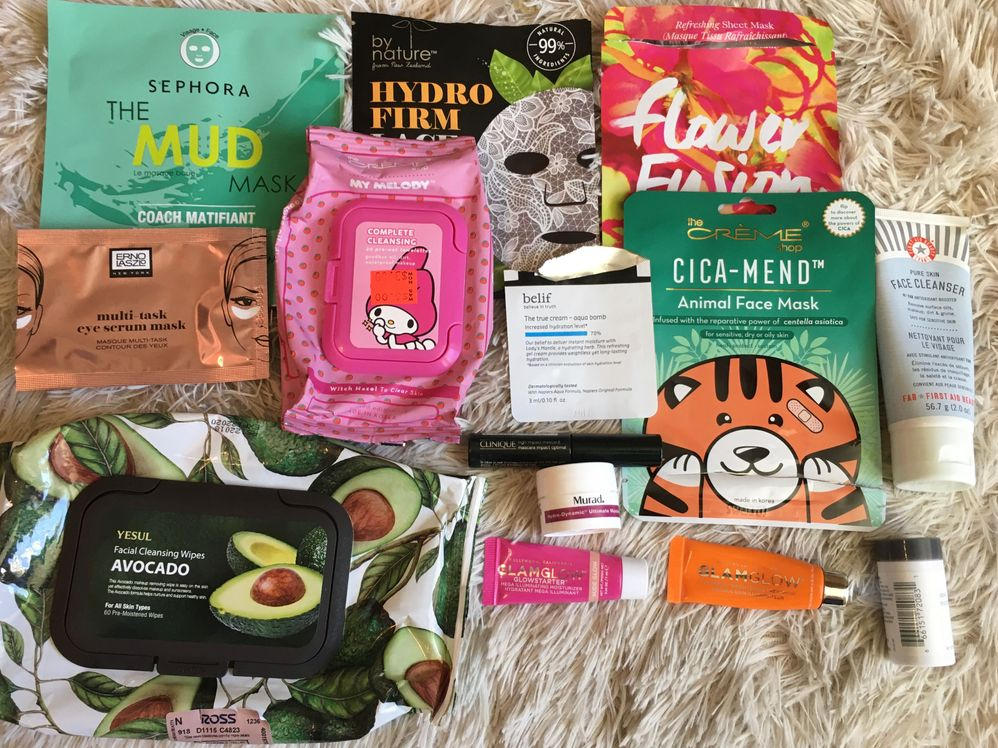 October-TCS and Mud mask were great. Glamglow Flashmud did not work with my skin.
