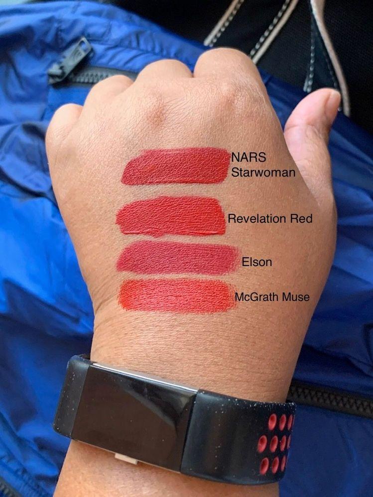 1 NARS and 3 PMG lipsticks.