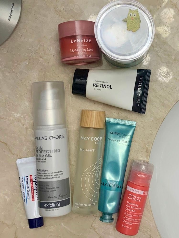 PM routine, Jan. 23: retinol night + the return of Raw Sauce + testing Algenist gratis from Sephora.