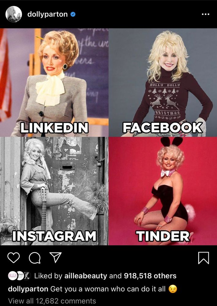 Original post by the one and only Dolly Parton