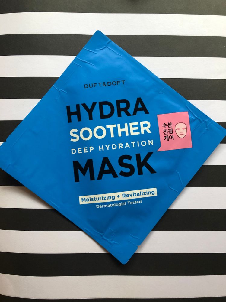 D - Duft & Doft for Deep hydration -  I picked this one out of the communal bin. It promises deep hydration. It is hydrating but I wouldn't say it's deeply hydrating. It's a good basic mask.