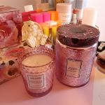 The Voluspa Rose Petal Ice Cream and Japanese Plum Bloom candles. I love these!