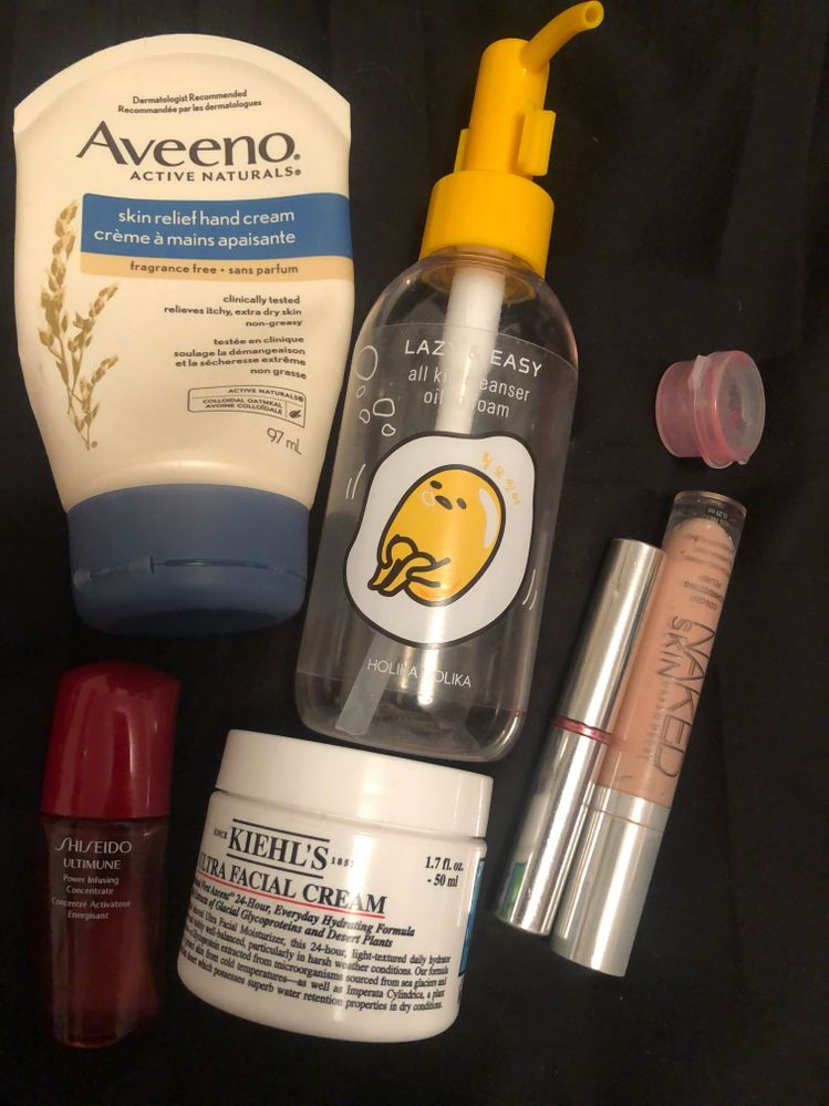 These are strong likes.  I use the UD peach corrector all the time, but I feel the need to branch out and see if I can find something better.  The HH cleanser worked great for me and I'd pick it up if I ran into it again.  The Kiehl's was a bit of a disappointment.  It was good, did it's job, but did't wow me.  The Clinique lipstick was almost empty and is older than some people on BIC... it was a lovely colour though, so YOLO... I finished it.  The Sample container was a Bite lip mask where the bottom blew out. Love the product, not my favourite colour though.