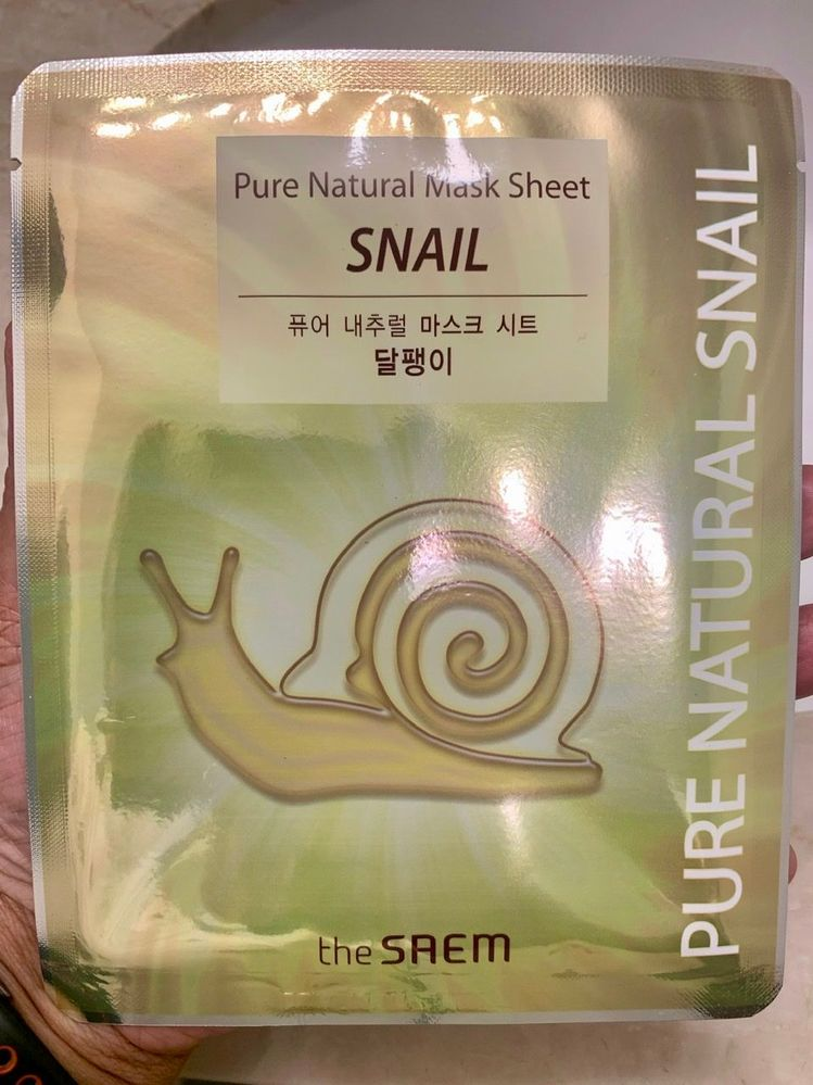 The Saem Pure Natural Snail Mask. Thumbs down.