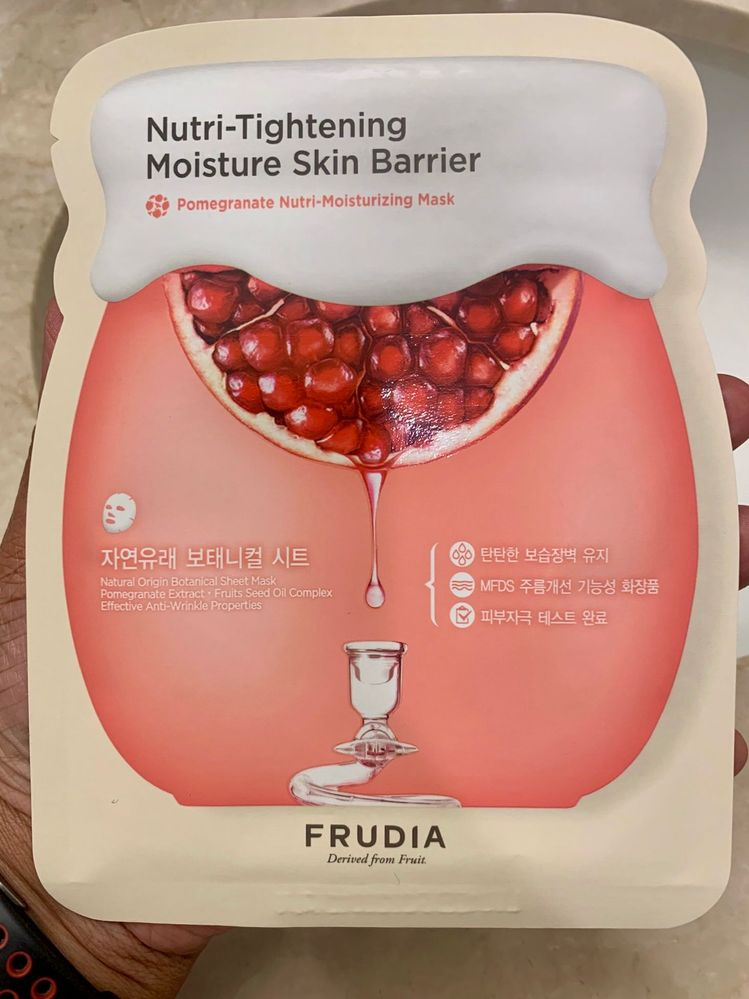 Frudia Pomegranate Nutri-Moisturizing Mask: an existing favorite.