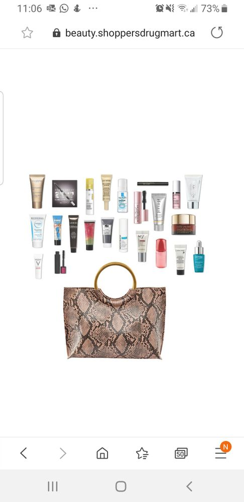 Inside the SDM spring bag worth $265- gwp of $125